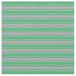[ Thumbnail: Dark Grey and Sea Green Lines Pattern Fabric ]
