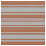 [ Thumbnail: Dark Grey and Sienna Colored Pattern Fabric ]
