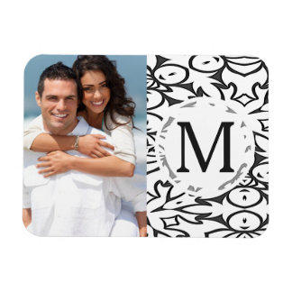 Dark Grey and White BOLD Pattern Magnet