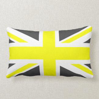 Dark Grey and Yellow Union Jack Pillow