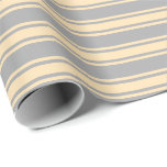 [ Thumbnail: Dark Grey & Beige Colored Pattern Wrapping Paper ]