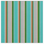 [ Thumbnail: Dark Grey, Bisque, Brown & Green Lines Fabric ]