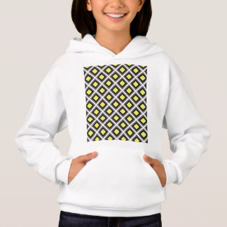 Dark Grey, Black, Yellow Ikat Diamonds by STaylor Hoodie
