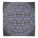 Dark Grey Blue Globe Abstract Bandana
