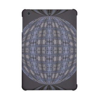 Dark Grey Blue Globe Abstract iPad Mini Retina Cases