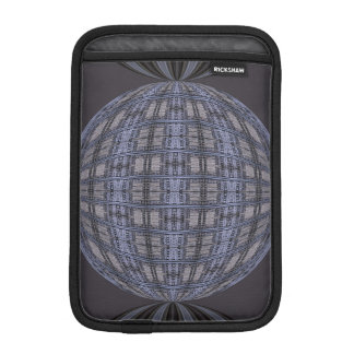 Dark Grey Blue Globe Abstract Sleeve For iPad Mini
