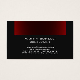 Dark Grey Browny Red Plain Clean Business Card