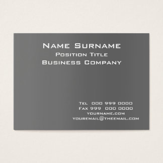 Dark Grey business card