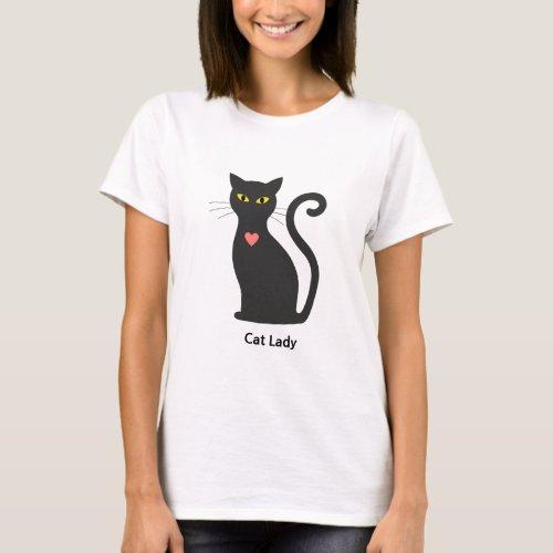 Dark Grey Cat Lady T_Shirt