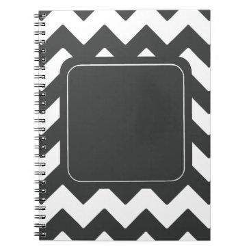Professional Business Dark Grey Chevron Notebook