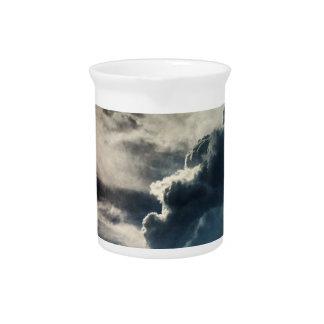 Dark Grey Clouds Drink Pitcher