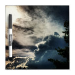Dark Grey Clouds Dry Erase Board