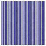 [ Thumbnail: Dark Grey & Dark Blue Colored Stripes Fabric ]
