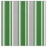[ Thumbnail: Dark Grey, Dark Green, and Beige Stripes Fabric ]