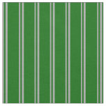 [ Thumbnail: Dark Grey & Dark Green Colored Stripes Fabric ]
