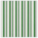 [ Thumbnail: Dark Grey, Dark Green & White Colored Pattern Fabric ]