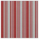 [ Thumbnail: Dark Grey & Dark Red Stripes Pattern Fabric ]
