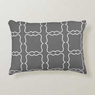 Dark Grey Decorative Pillow