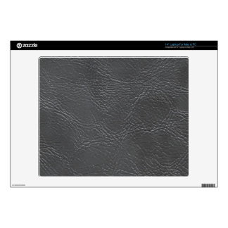 """Dark Grey Faux Leather Texture Decal For 14"""" Laptop"""