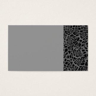 DARK GREY GRAY LEOPARD WOBBLE PATTERN BACKGROUNDS BUSINESS CARD