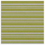 [ Thumbnail: Dark Grey & Green Lines Pattern Fabric ]
