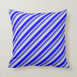 [ Thumbnail: Dark Grey, Lavender & Blue Colored Lines Pillow ]