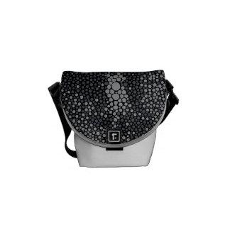 Dark Grey & Light Grey Shagreen Messenger Bag