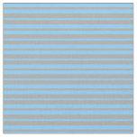[ Thumbnail: Dark Grey & Light Sky Blue Colored Lines Pattern Fabric ]