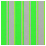 [ Thumbnail: Dark Grey, Lime & Green Colored Pattern Fabric ]