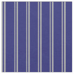 [ Thumbnail: Dark Grey & Midnight Blue Colored Lined Pattern Fabric ]