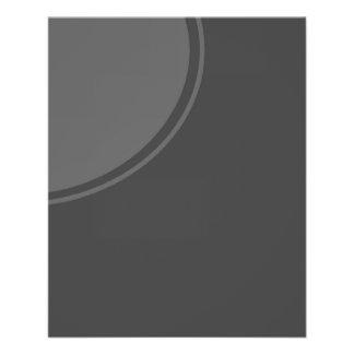"""Dark Grey Mod Circle 4.5"""" X 5.6"""" Flyer"""