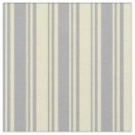 [ Thumbnail: Dark Grey & Pale Goldenrod Stripes Fabric ]