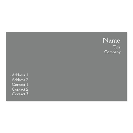 Dark Grey Plain - Business Business Cards
