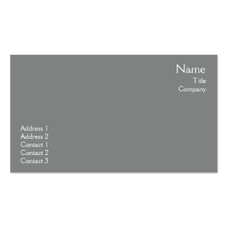 Dark Grey Plain - Business Double-Sided Standard Business Cards (Pack Of 100)