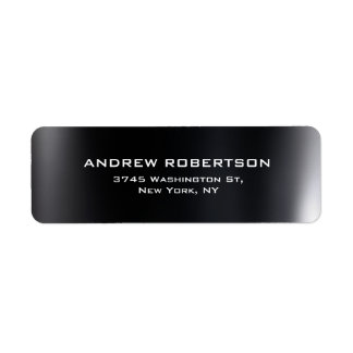 Dark Grey Plain Elegant Return Address Label
