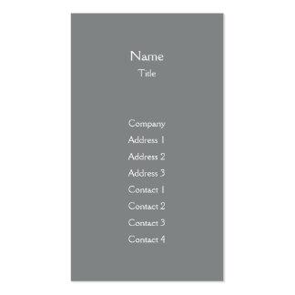 Dark Grey Plain Vertical - Business Business Card Templates