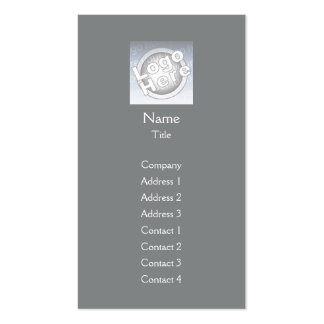Dark Grey Plain Vertical - Business Double-Sided Standard Business Cards (Pack Of 100)