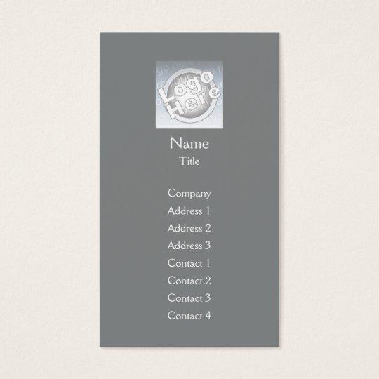 Dark Grey Plain Vertical - Business Business Card