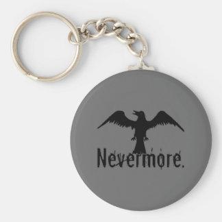 Dark Grey Poe Tribal Raven Nevermore Key Chain