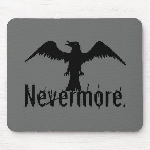 Dark Grey Poe Tribal Raven Nevermore Mouse Pad