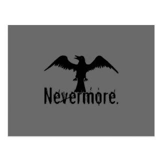 Dark Grey Poe Tribal Raven Nevermore Postcard