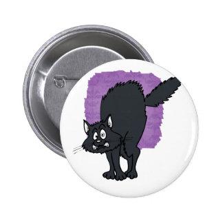 Dark grey scaredy cat buttons