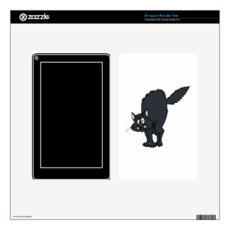 Dark grey scaredy cat. decals for kindle fire