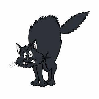 Dark grey scaredy cat photo sculptures