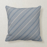 [ Thumbnail: Dark Grey & Slate Gray Colored Lines Pattern Throw Pillow ]