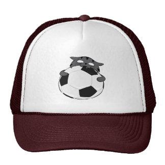 Dark Grey Soccer Cat Trucker Hat