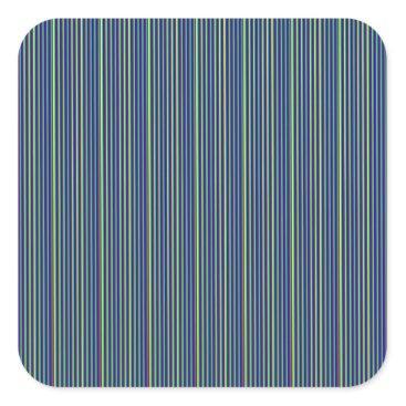 Professional Business DARK Grey Stripe Art    add GREETING light white Square Sticker