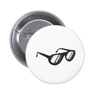 dark grey sunglasses reflection png pinback button