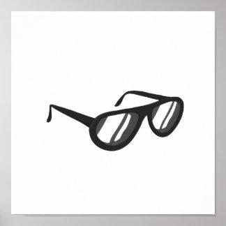 dark grey sunglasses reflection.png poster