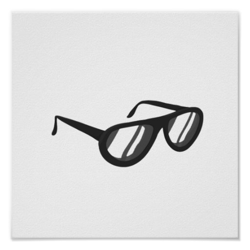 dark grey sunglasses reflection.png poster